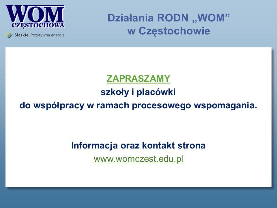 """Działania RODN """"WOM w Częstochowie"""