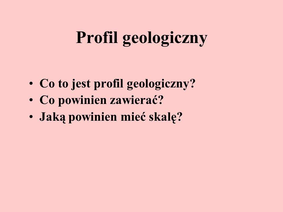 Profil geologiczny Co to jest profil geologiczny