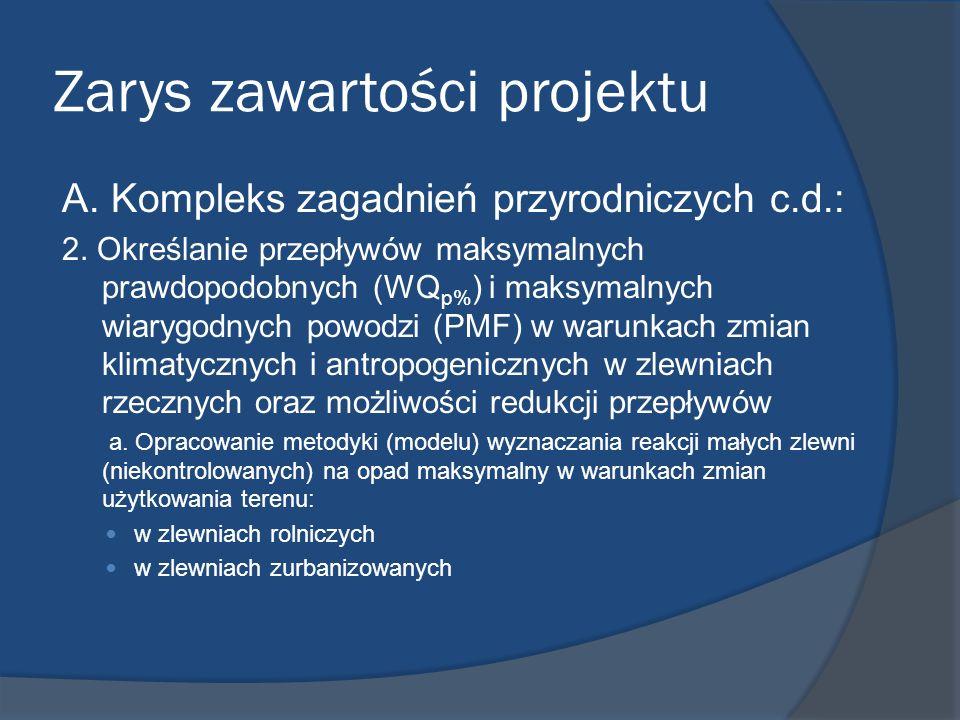 Zarys zawartości projektu