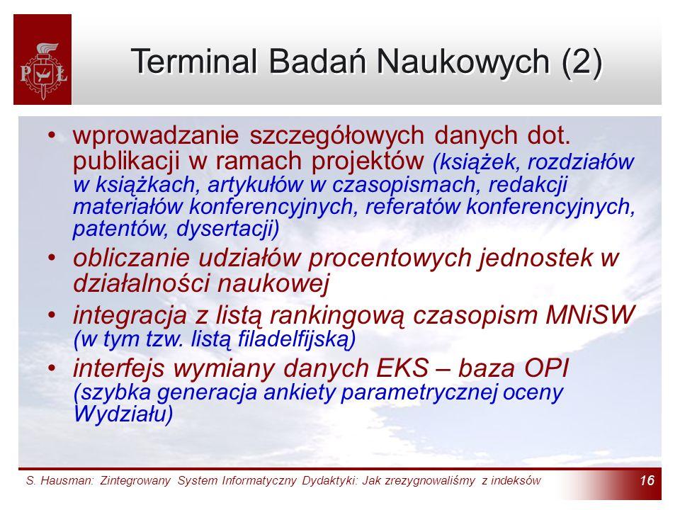 Terminal Badań Naukowych (2)