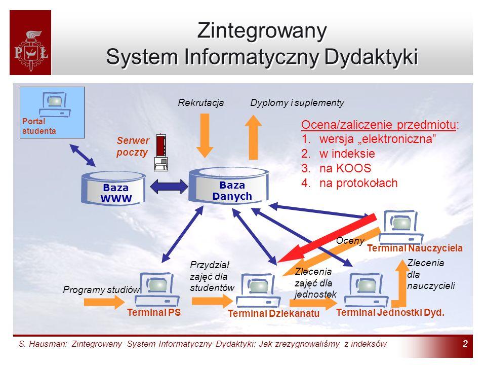 Zintegrowany System Informatyczny Dydaktyki