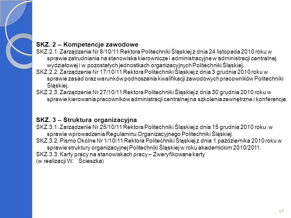 SKZ. 2 – Kompetencje zawodowe