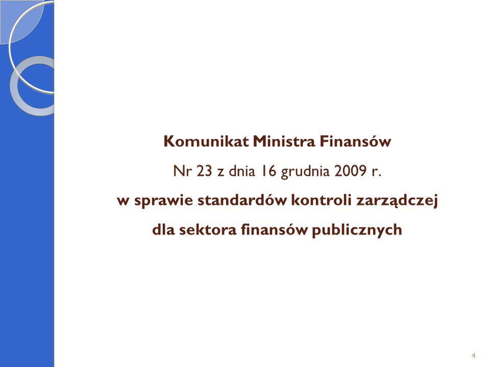 Komunikat Ministra Finansów Nr 23 z dnia 16 grudnia 2009 r