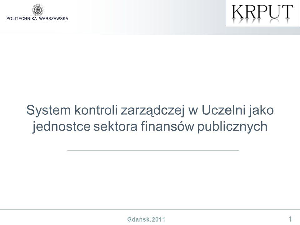 System kontroli zarządczej w Uczelni jako jednostce sektora finansów publicznych