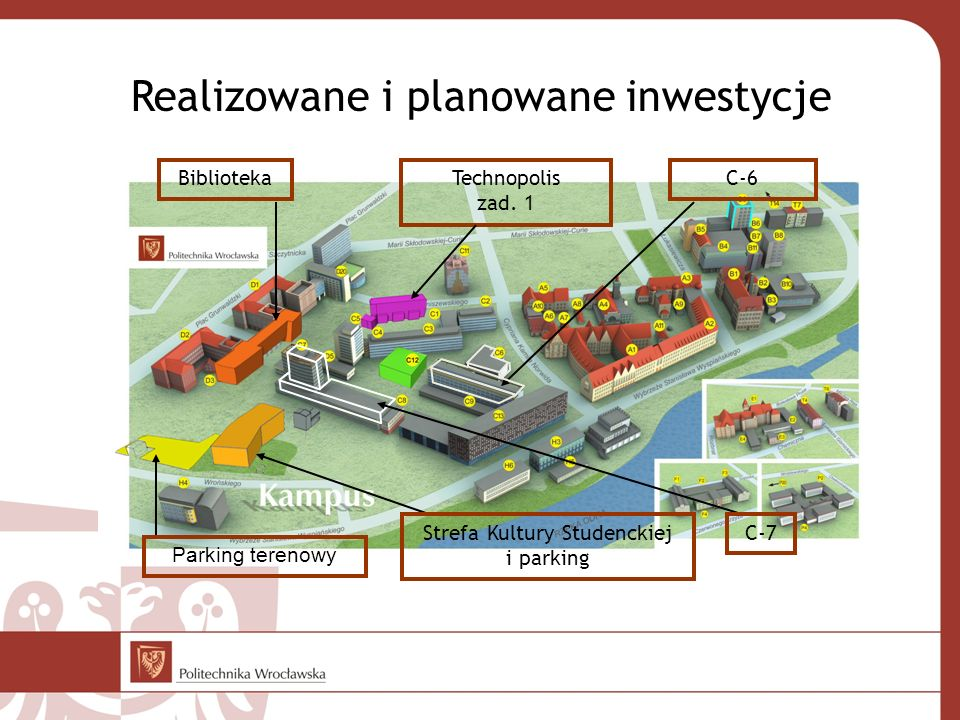 Realizowane i planowane inwestycje