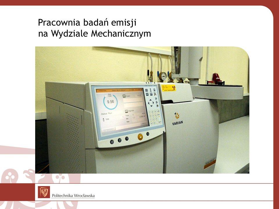 Pracownia badań emisji na Wydziale Mechanicznym