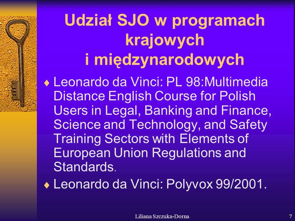 Udział SJO w programach krajowych i międzynarodowych
