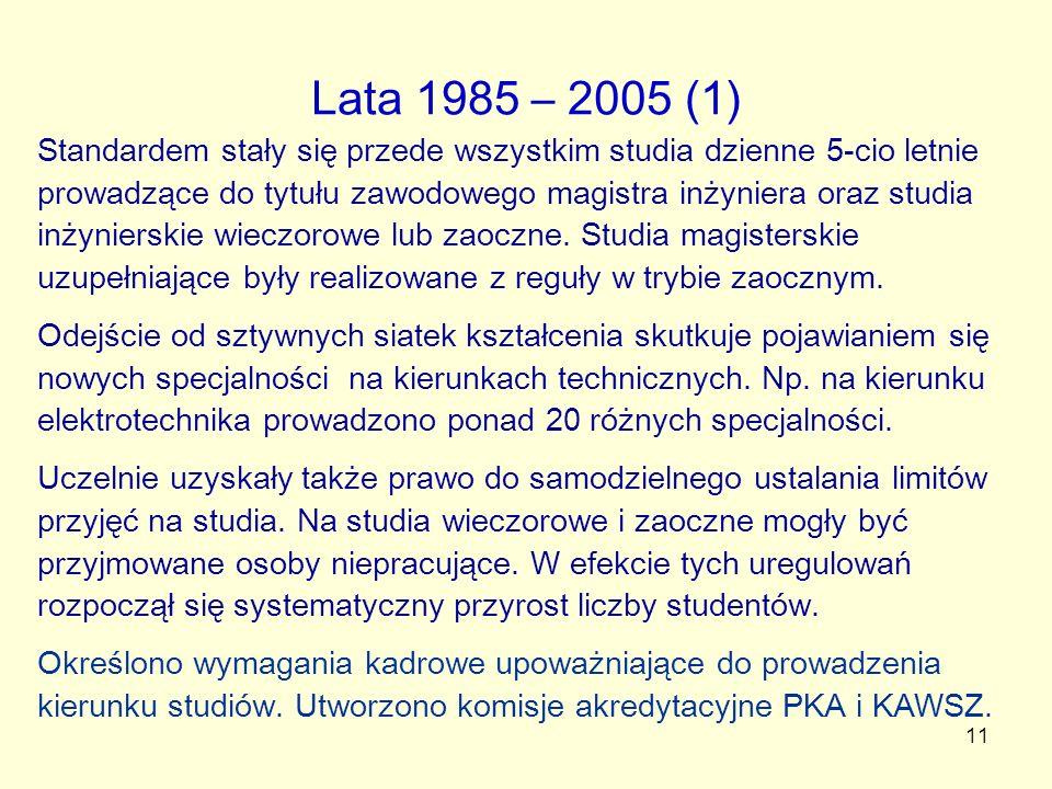 Lata 1985 – 2005 (1)