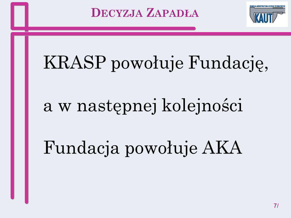 KRASP powołuje Fundację, a w następnej kolejności