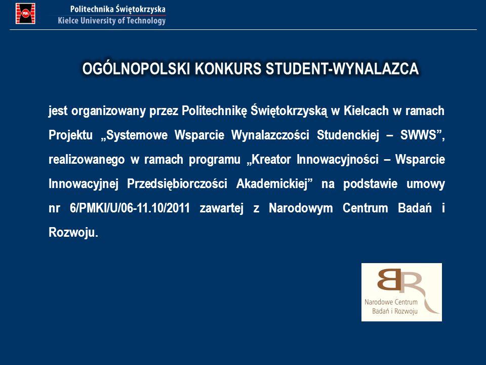 OGÓLNOPOLSKI KONKURS STUDENT-WYNALAZCA
