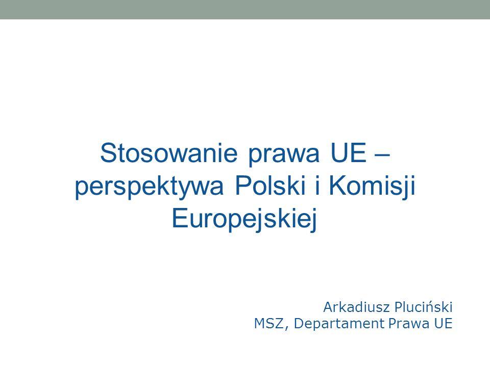 Stosowanie prawa UE – perspektywa Polski i Komisji Europejskiej
