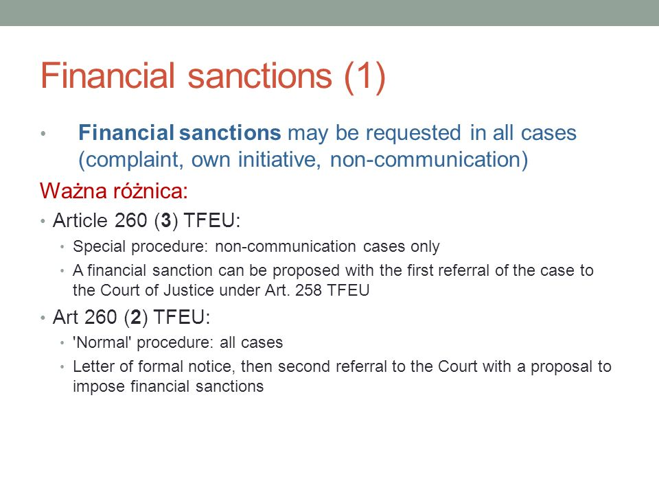 Financial sanctions (1)