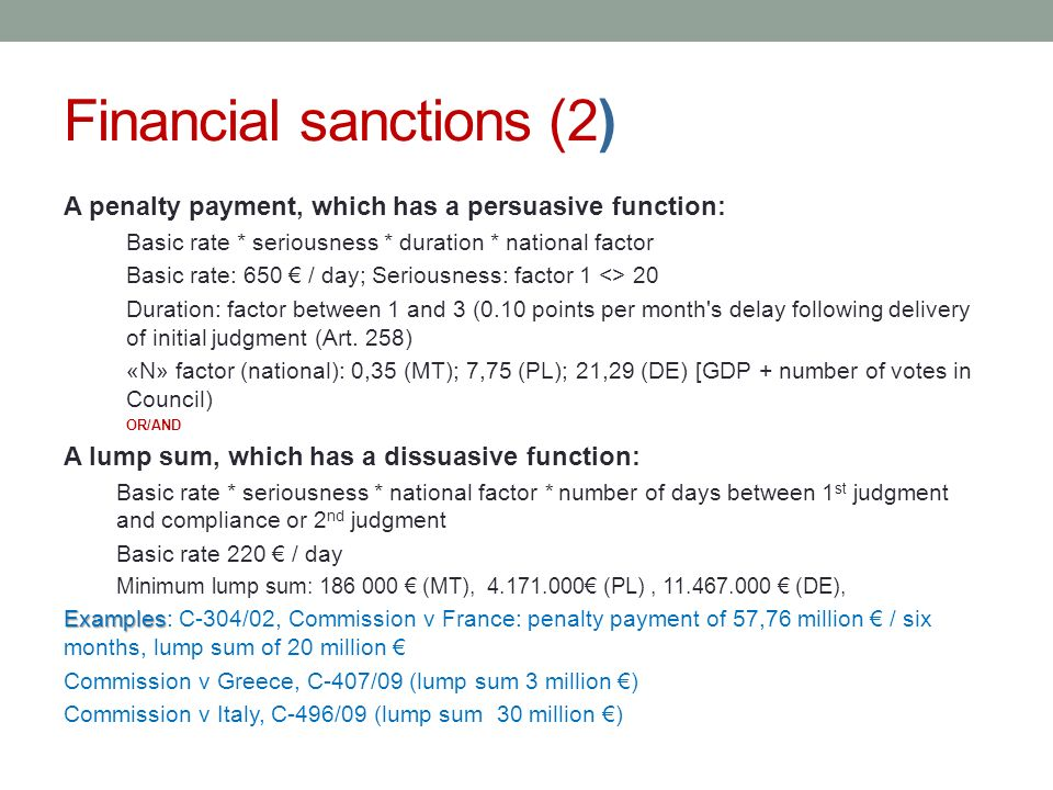 Financial sanctions (2)