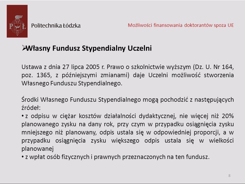 Własny Fundusz Stypendialny Uczelni