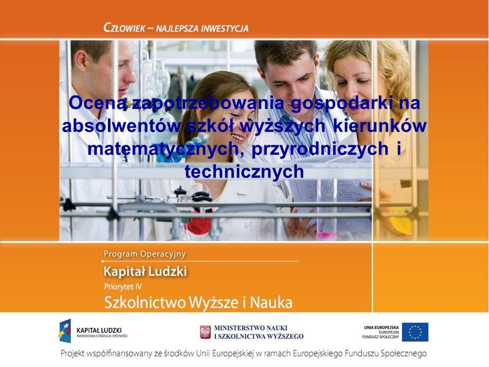Ocena zapotrzebowania gospodarki na absolwentów szkół wyższych kierunków matematycznych, przyrodniczych i technicznych