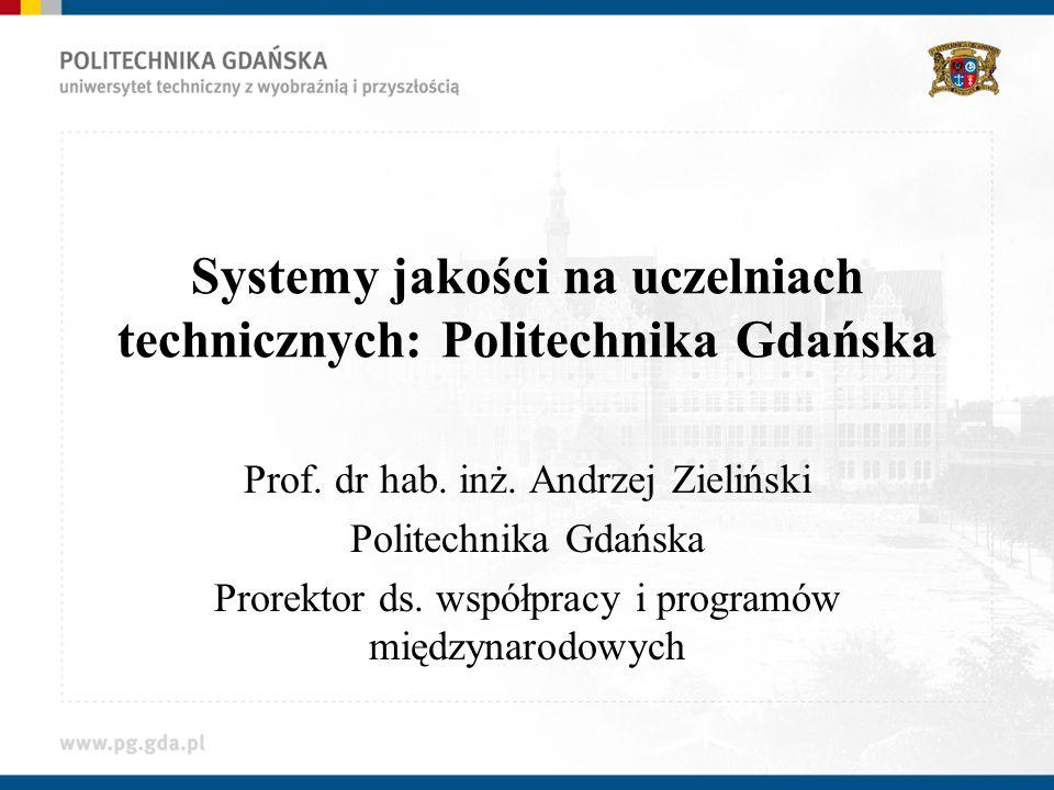 Systemy jakości na uczelniach technicznych: Politechnika Gdańska