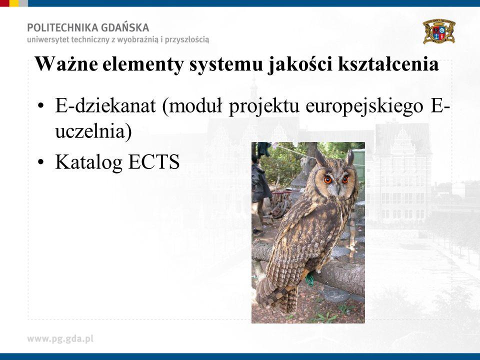 Ważne elementy systemu jakości kształcenia