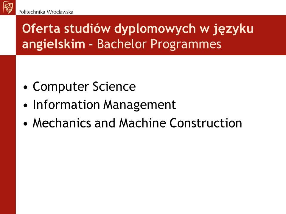 Oferta studiów dyplomowych w języku angielskim - Bachelor Programmes