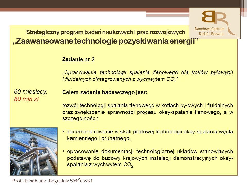 """Strategiczny program badań naukowych i prac rozwojowych """"Zaawansowane technologie pozyskiwania energii"""