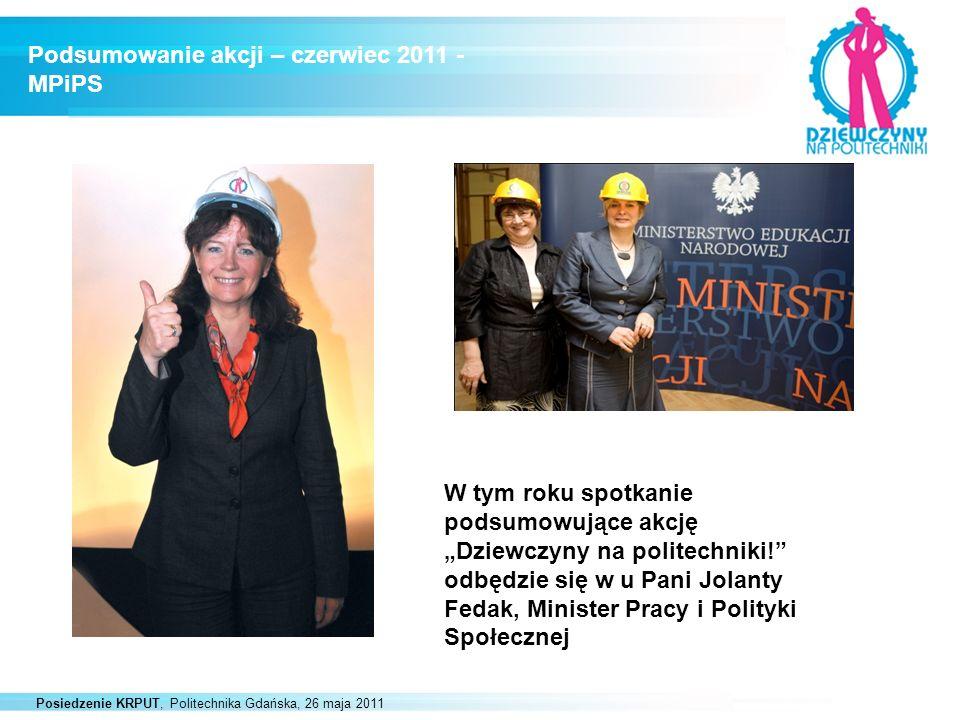 Podsumowanie akcji – czerwiec 2011 - MPiPS