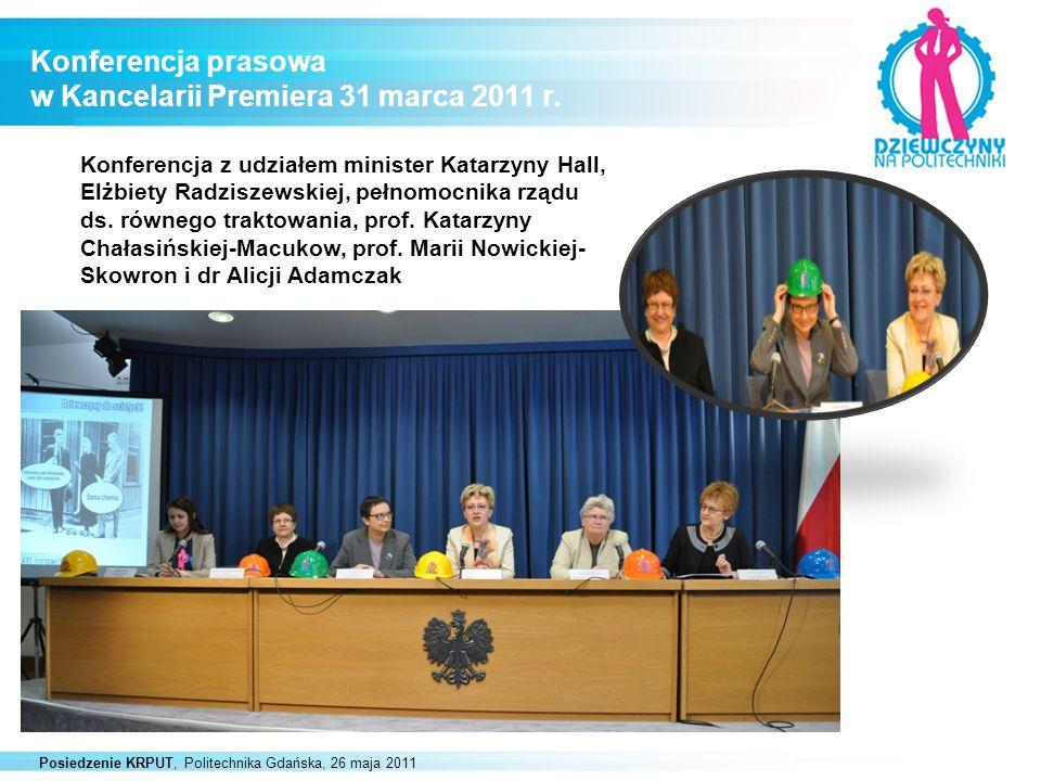 Konferencja prasowa w Kancelarii Premiera 31 marca 2011 r.