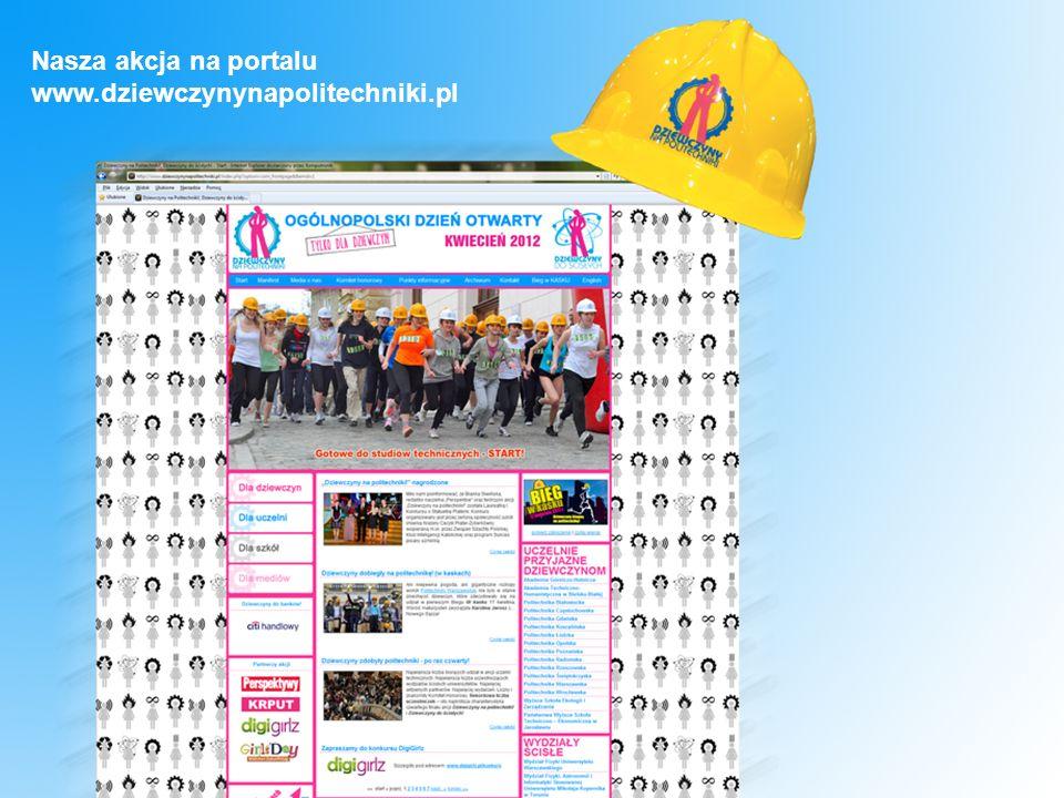 Nasza akcja na portalu www.dziewczynynapolitechniki.pl