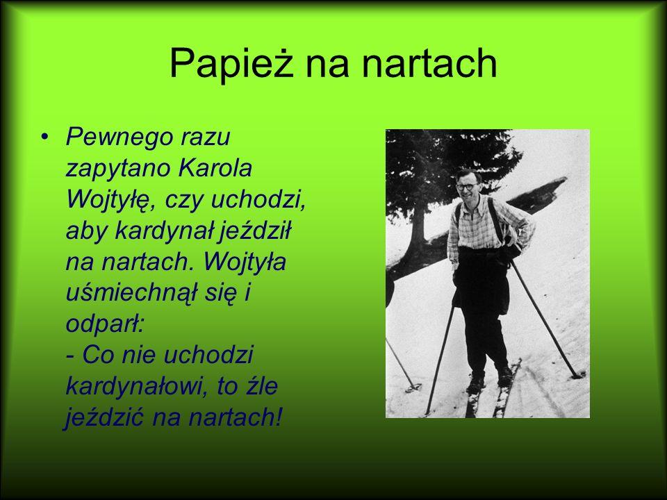 Papież na nartach