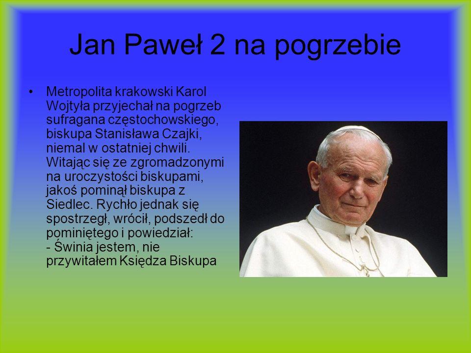 Jan Paweł 2 na pogrzebie