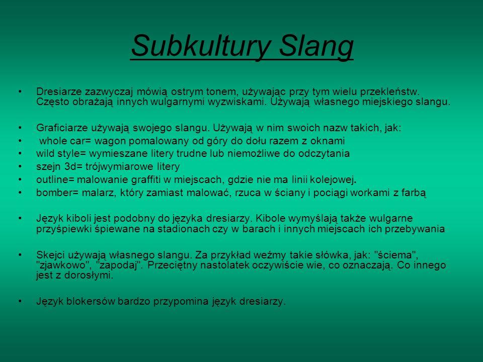 Subkultury Slang