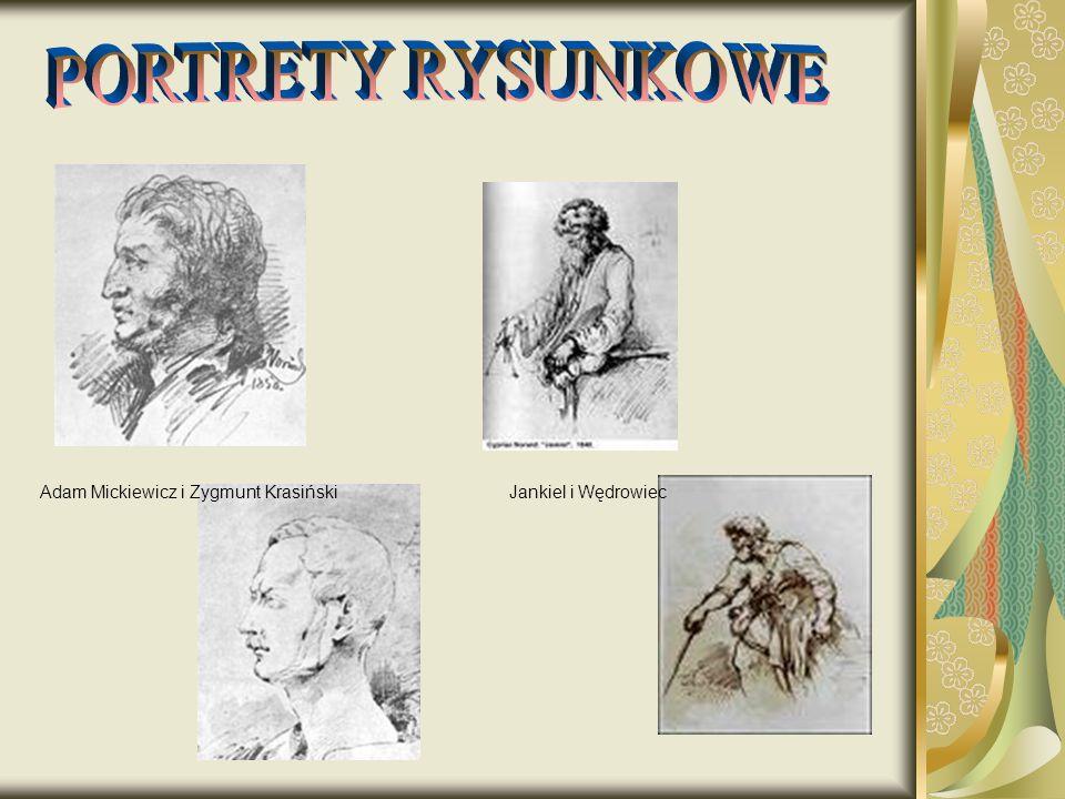 PORTRETY RYSUNKOWE Adam Mickiewicz i Zygmunt Krasiński