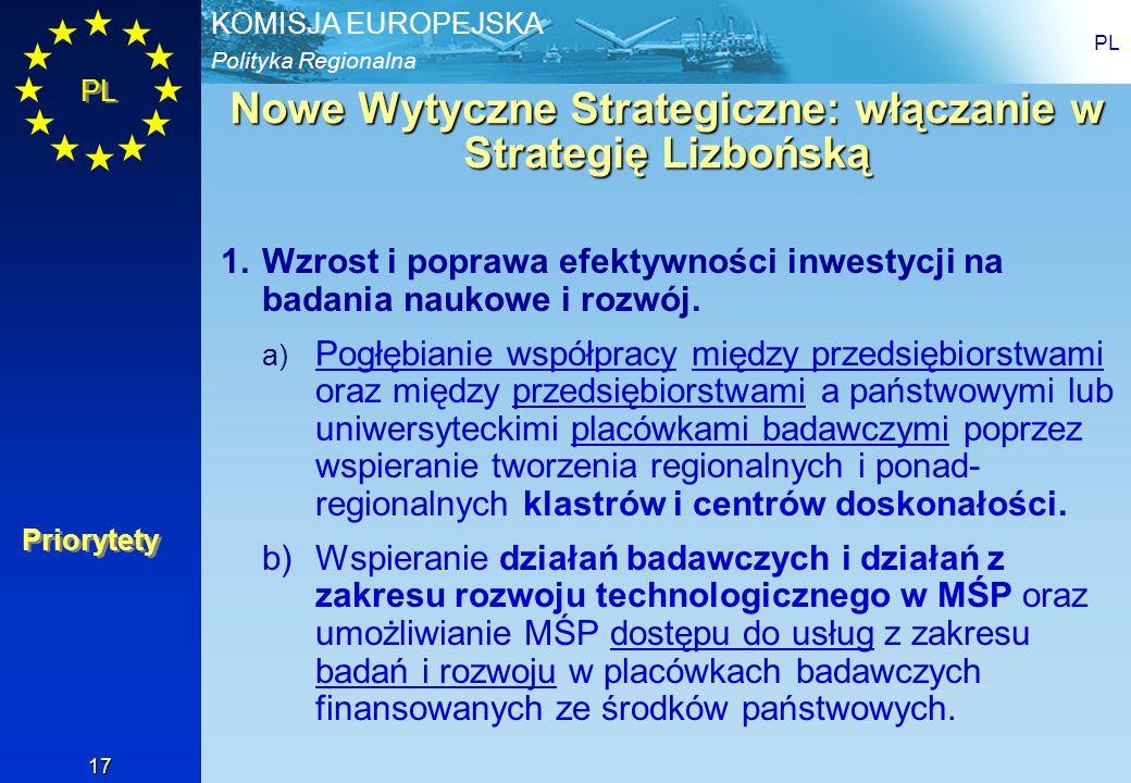 Nowe Wytyczne Strategiczne: włączanie w Strategię Lizbońską