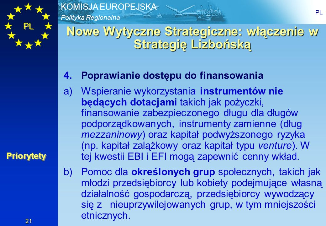 Nowe Wytyczne Strategiczne: włączenie w Strategię Lizbońską