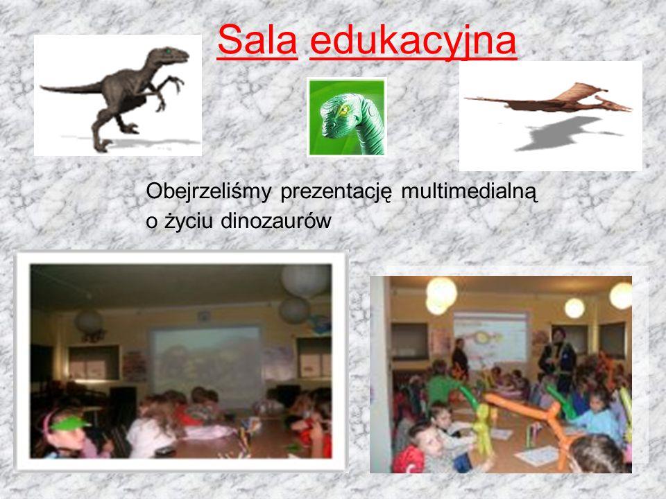 Sala edukacyjna Obejrzeliśmy prezentację multimedialną
