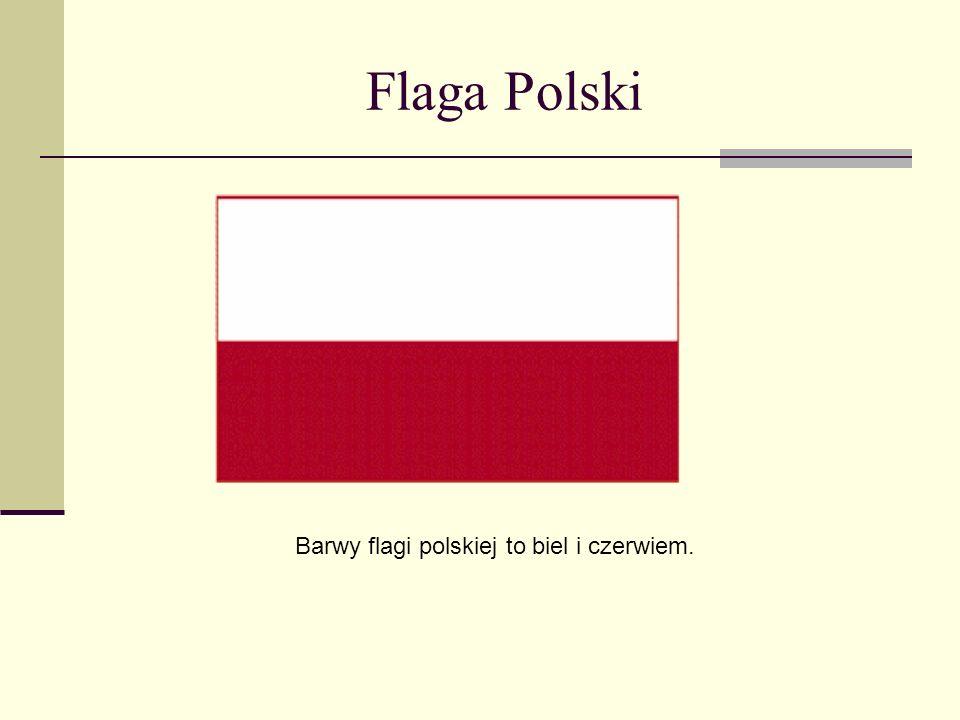 Barwy flagi polskiej to biel i czerwiem.