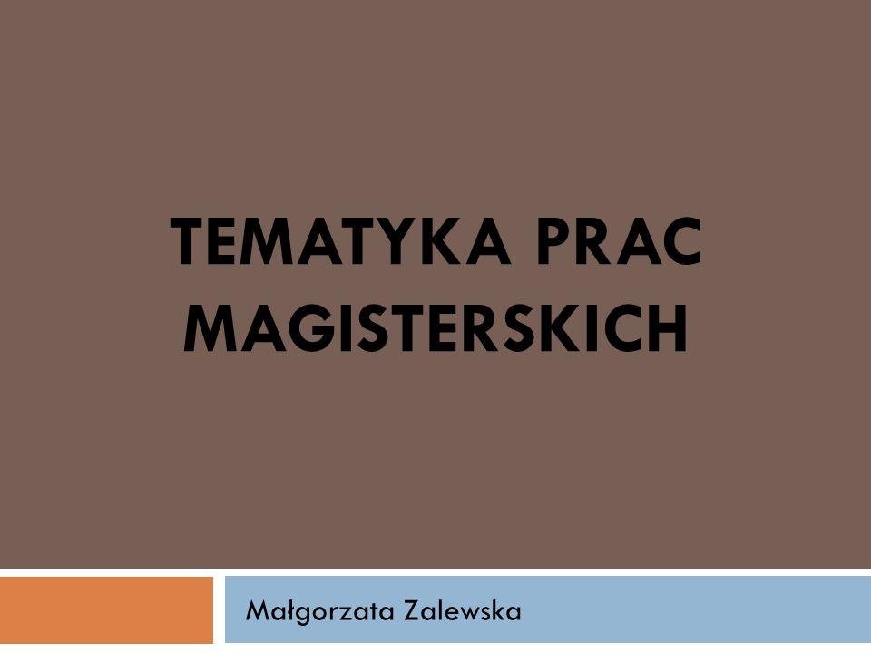 Tematyka prac magisterskich
