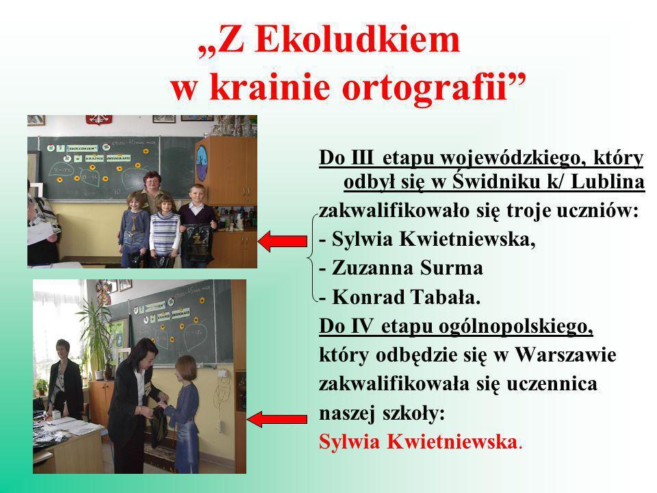 """""""Z Ekoludkiem w krainie ortografii"""