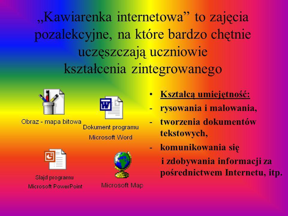 """""""Kawiarenka internetowa to zajęcia pozalekcyjne, na które bardzo chętnie uczęszczają uczniowie kształcenia zintegrowanego"""
