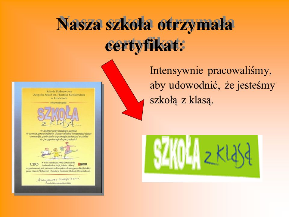Nasza szkoła otrzymała certyfikat: