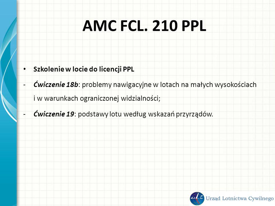 AMC FCL. 210 PPL Szkolenie w locie do licencji PPL