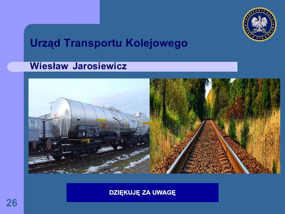 Urząd Transportu Kolejowego Wiesław Jarosiewicz
