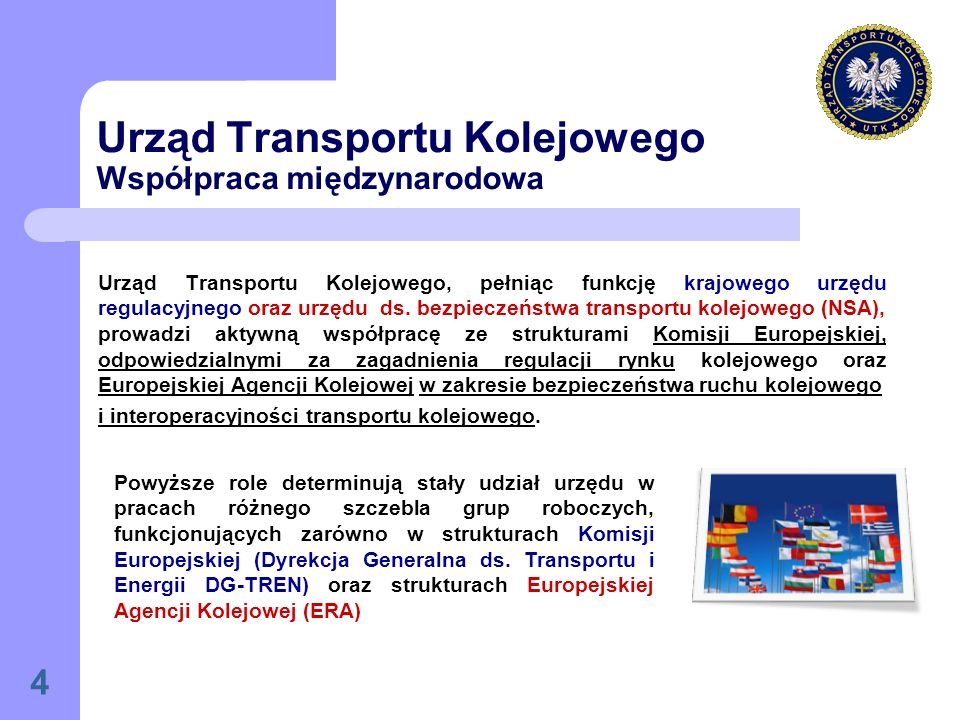 Urząd Transportu Kolejowego Współpraca międzynarodowa