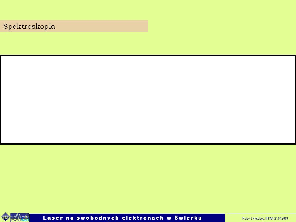 SpektroskopiaL a s e r n a s w o b o d n y c h e l e k t r o n a c h w Ś w i e r k u.