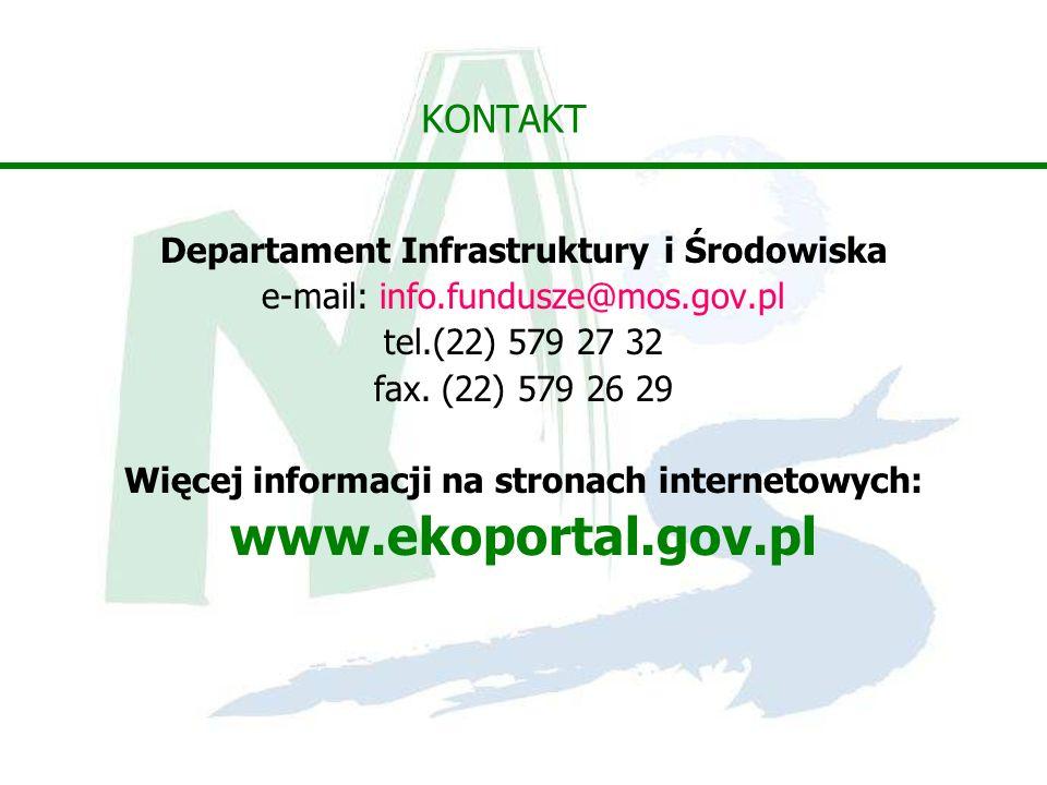 www.ekoportal.gov.pl KONTAKT Departament Infrastruktury i Środowiska