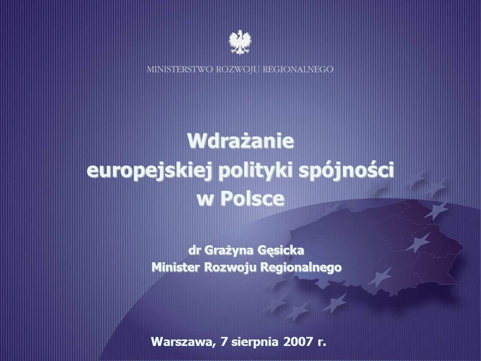 Wdrażanie europejskiej polityki spójności w Polsce