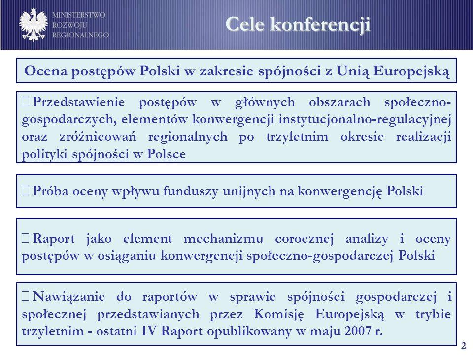 Ocena postępów Polski w zakresie spójności z Unią Europejską