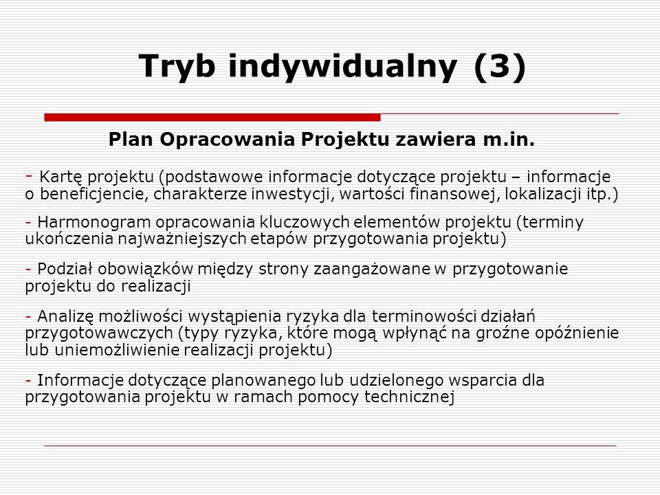 Plan Opracowania Projektu zawiera m.in.