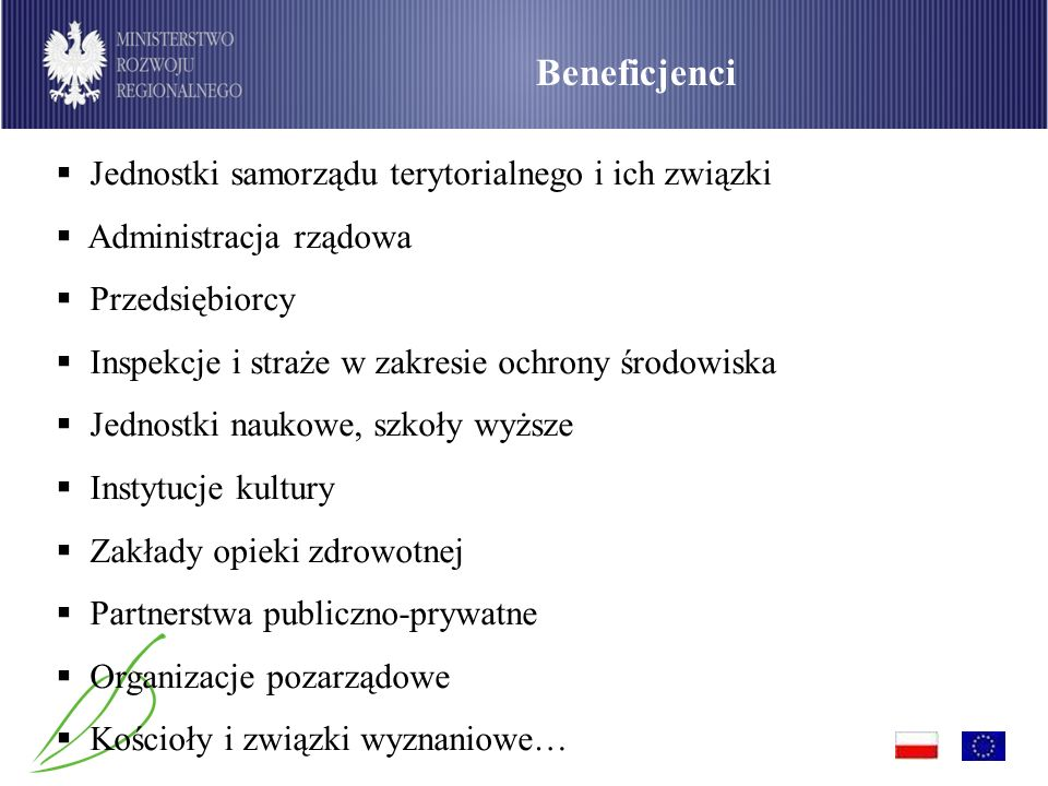 Podział środków dostępnych w ramach PO Infrastruktura i Środowisko wg sektorów (w mln euro)