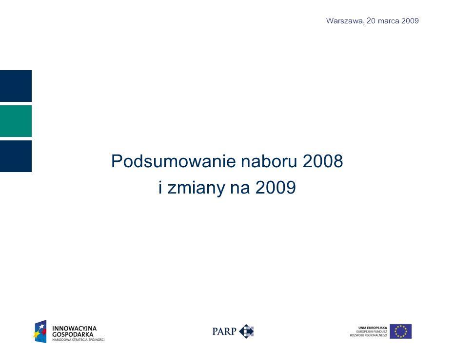 Podsumowanie naboru 2008 i zmiany na 2009