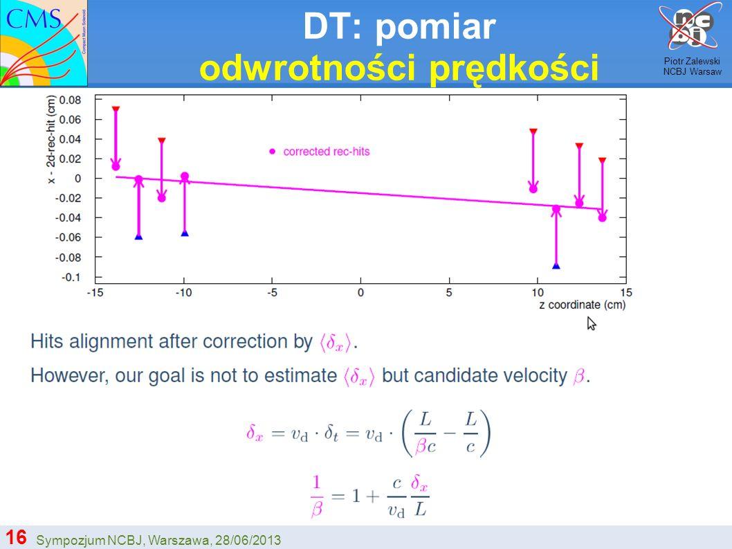 DT: pomiar odwrotności prędkości