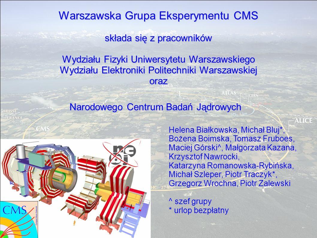 Warszawska Grupa Eksperymentu CMS składa się z pracowników